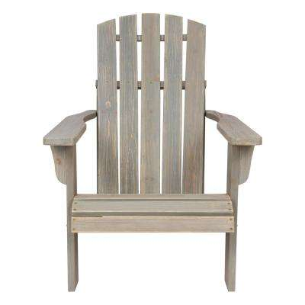 Lakewood Rustic Cedar Wood Adirondack Chair - Vintage Gray