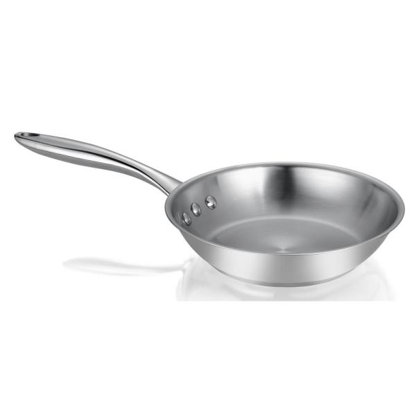 Ozeri 8 in. Stainless Steel Earth Pan 100% PTFE-Free Restaurant Edition