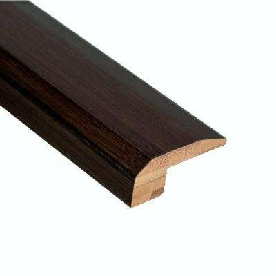 Horizontal Black 9/16 in. Thick x 2-1/8 in. Wide x 78 in. Length Bamboo Carpet Reducer Molding