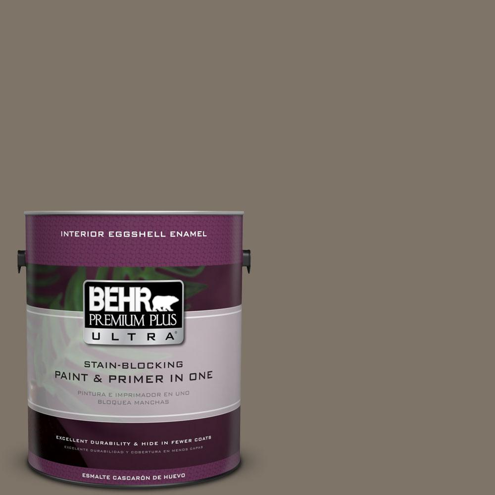 BEHR Premium Plus Ultra Home Decorators Collection 1-gal. #HDC-NT-05 Aged Olive Eggshell Enamel Interior Paint