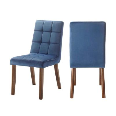 Rosie Tufted Side Chair Set in Navy