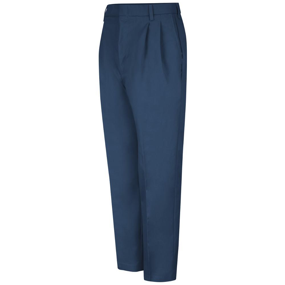 Red Kap Uniforms Men's Size 46 in. x 30 in. Navy (Blue) Pleated Twill Slacks