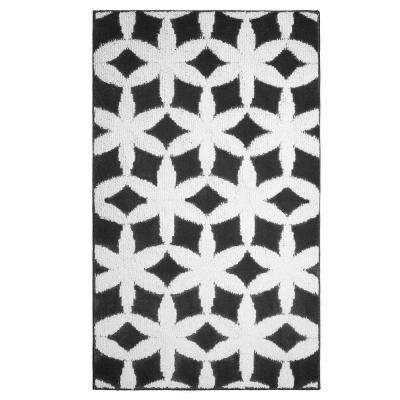Geo Flower Grey/Ivory 2 ft. x 4 ft. Area Rug