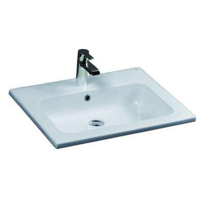 Cilla Drop-In Bathroom Sink in White
