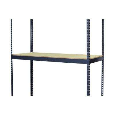 3-1/4 in. H x 60 in. W x 24 in. D Extra Shelf for Bulk Storage Boltless Shelving with Double Rivet and Particle Board