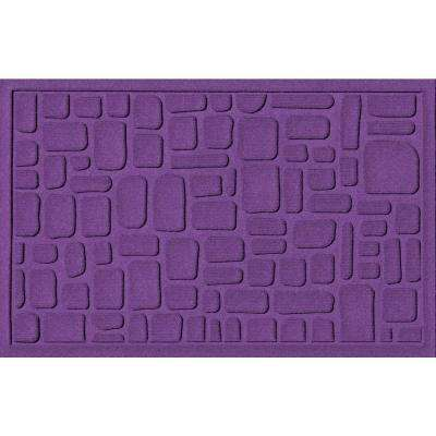 Stone Path Purple 24 in. x 36 in. Polypropylene Door Mat