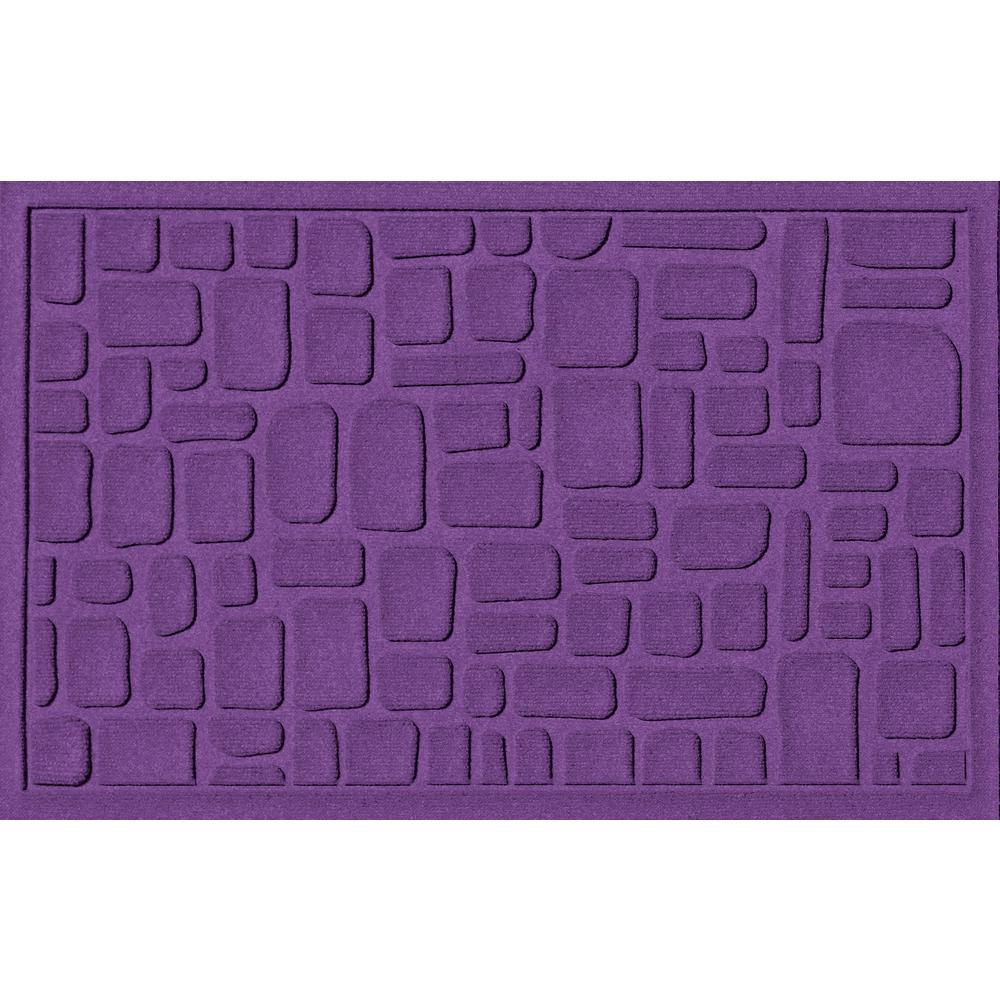 Stone Path Purple 24 in. x 36 in. Polypropylene Door Mat