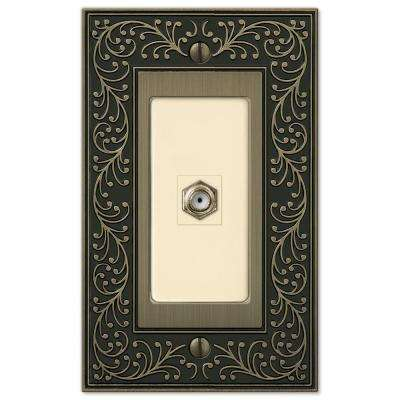 English Garden 1 Coax Wall Plate - Brushed Brass