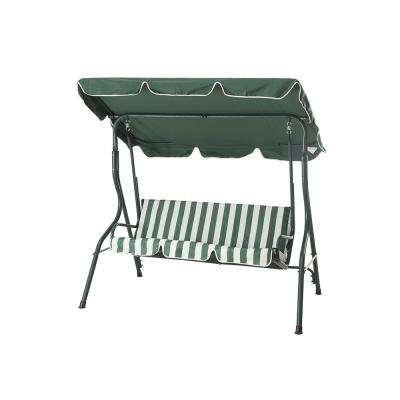 Raton 3-Person Green Patio Swing