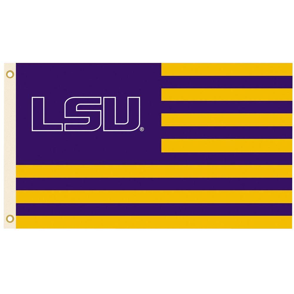 Bsi Products Ncaa 3 Ft X 5 Ft Lsu Flag 95115 The Home