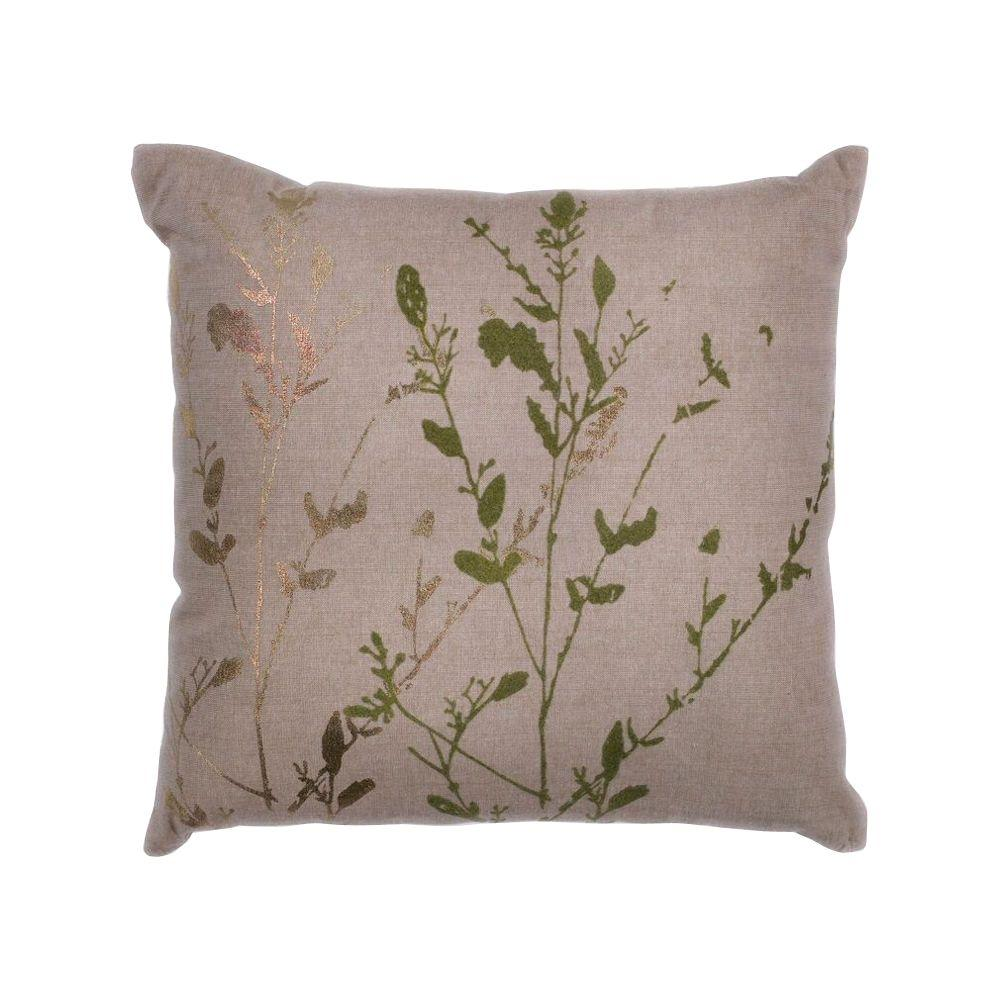 Natural Decorative Pillow : Kas Rugs Willow Natural Decorative Pillow-PILL29718SQ - The Home Depot