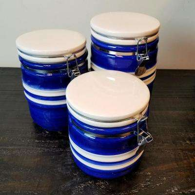 Bistro Edge 3-Piece Ceramic Canister Set