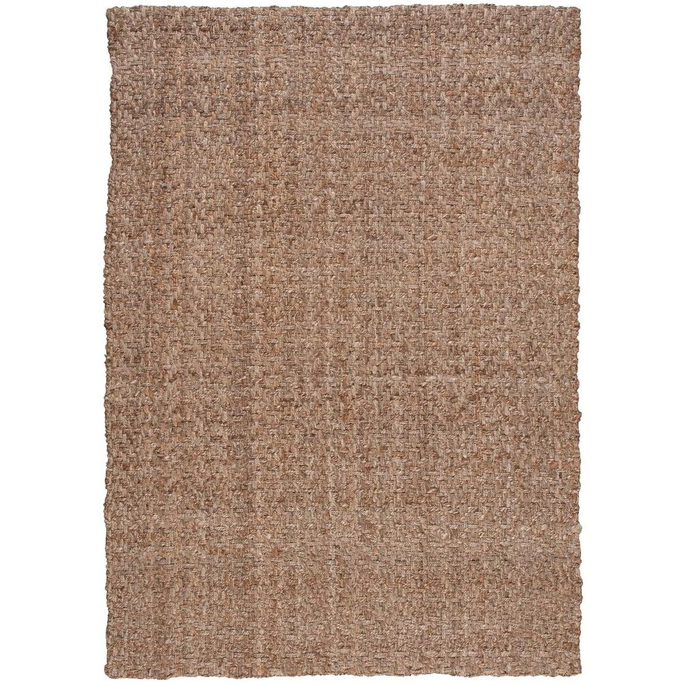Basketweave Silver 5 ft. x 7 ft. Area Rug