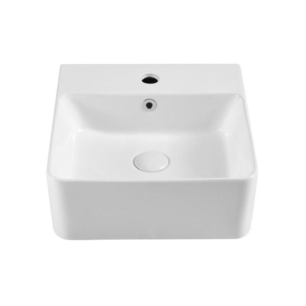 Mini Kong Darell Ceramic Rectangle Vessel Sink In White Skysh18050rewof The Home Depot