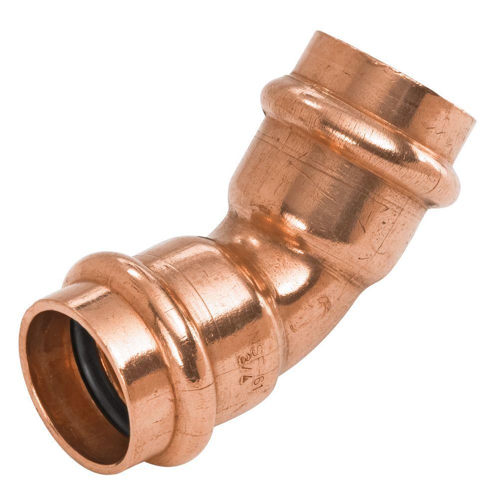 1 in. Copper 45-Degree Press x Press Pressure Elbow