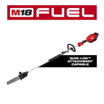 M18 FUEL 10 in. 18-Volt Lithium-Ion Brushless Cordless Pole Saw Kit with Attachment Capability and 8.0 Ah Battery
