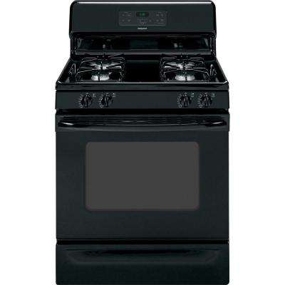 4.8 cu. ft. Gas Range in Black