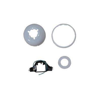 Harper III 44 in. White Mounting Bracket And Canopy Set