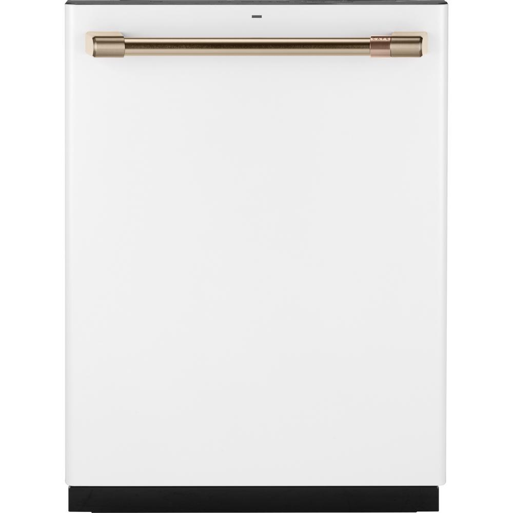 24 in. Top Control Dishwasher in Matte White with Stainless Steel
