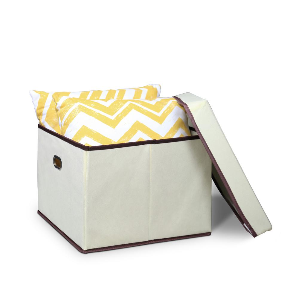 Heavy Duty Ivory Non-Woven Fabric Storage Bin