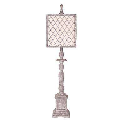 41 in. Light Gray Table Lamp