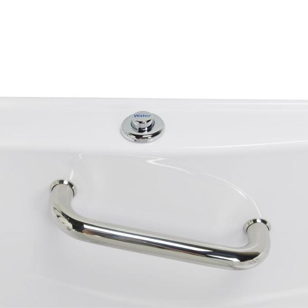 Ella Monaco Acrylic 52 In Walk In Whirlpool And Microbubble Bath In White With Thermostatic Faucet Set Left 2 In Dual Drain Oa3252hm L The Home Depot