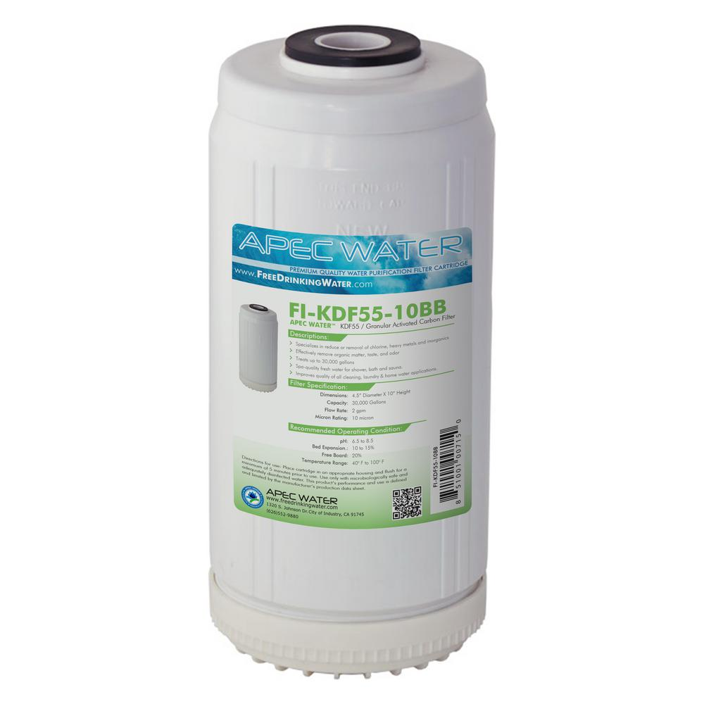 10 in. Whole House Replacement Water Filter Chlorine, Heavy Metal and
