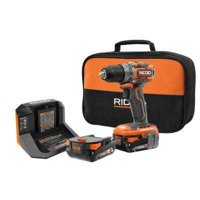18-Volt Brushless SubCompact Cordless 1/2 in. Drill Driver Kit with (2) 2.0 Ah Battery, Charger and Bag