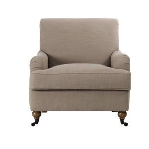 Charles Natural Linen Arm Chair