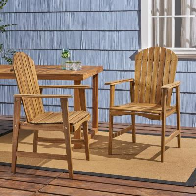 Malibu Natural Solid Wood Outdoor Dining Chairs (2-Pack)