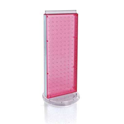 20 in. H x 8 in. W Pegboard Counter Display in Pink Styrene