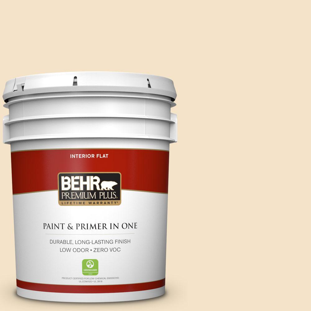 5 gal. #PPU6-10 Cream Puff Zero VOC Flat Interior Paint