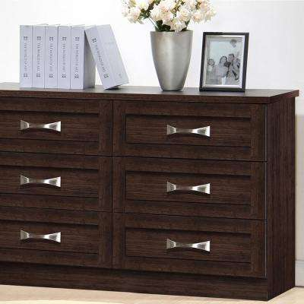 Colburn 6-Drawer Dark Brown Wood Dresser