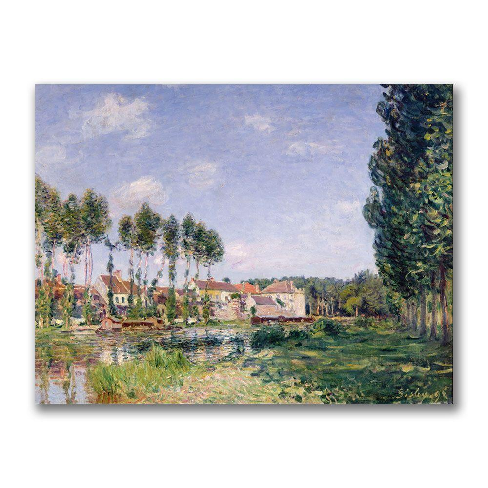Trademark Fine Art 24 in. x 32 in. Banks of the Loing, Moret Canvas Art