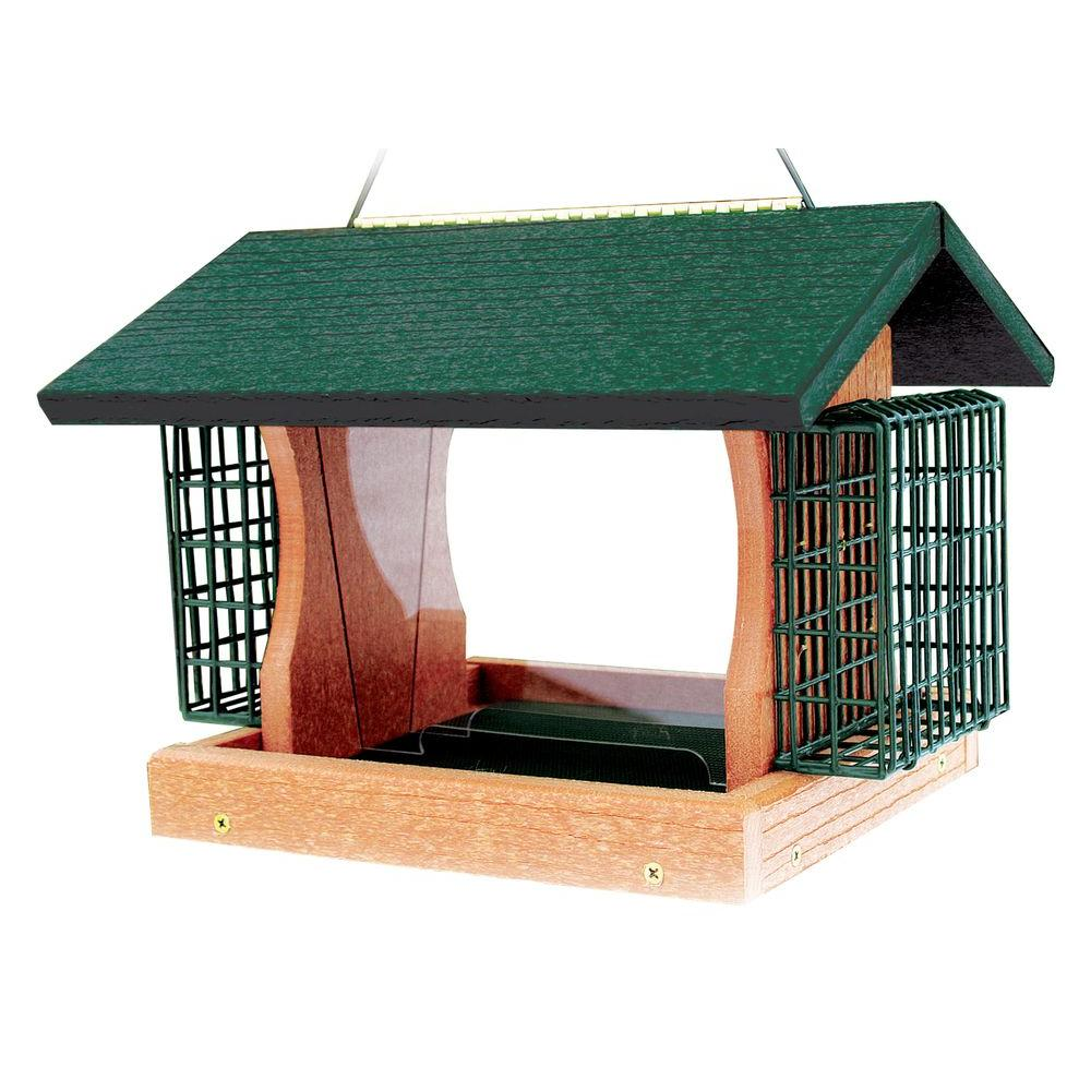 Woodlink Going Green Large Premier Feeder With Suet Cages Bird