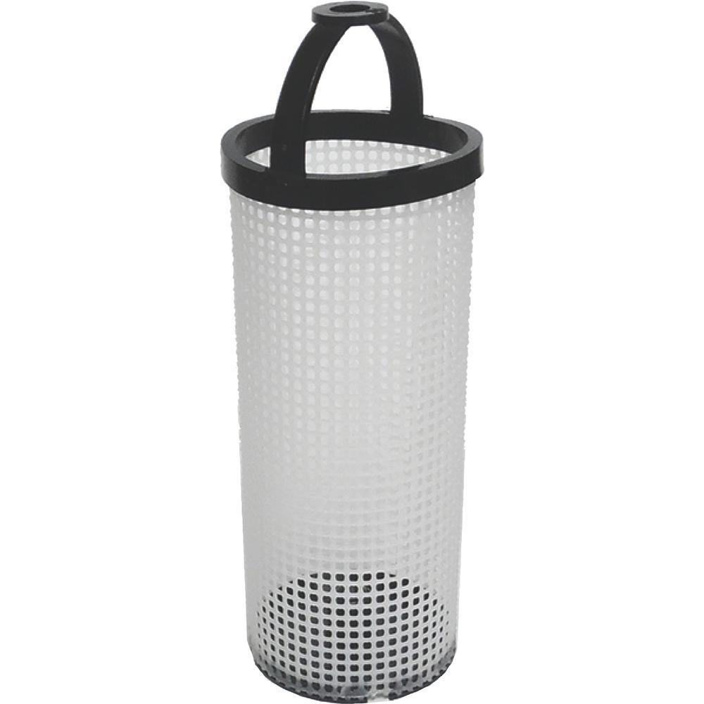 2.6 in. x 7.3 in. Polyethylene Filter Basket for ARG Strainer