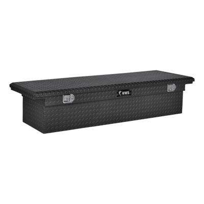 77.00 in Matte Black Aluminum Low Profile Crossbed Truck Tool Box