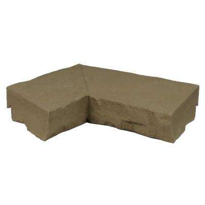 Sandstone Brown 9.75 in. x 7.5 in. Faux Stone Ledger Inside Corner (2-Pack)