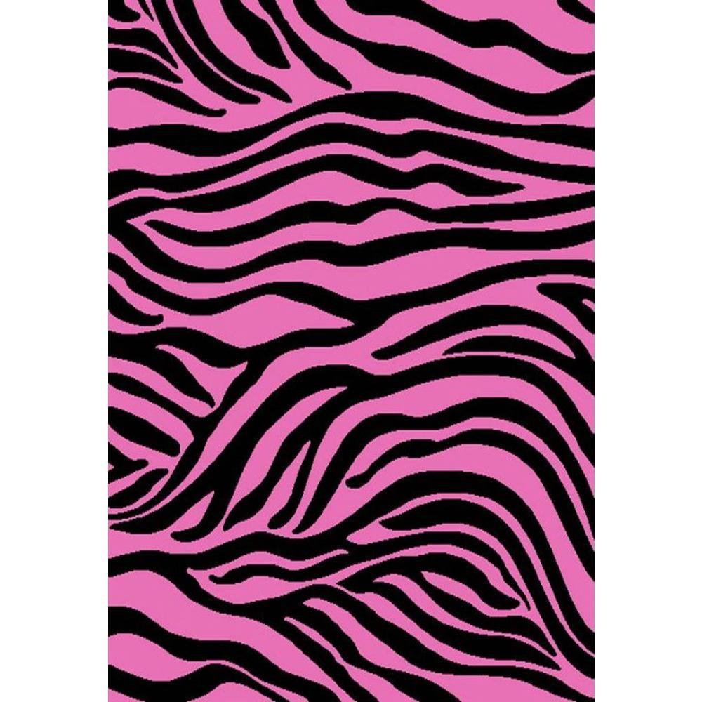 Alisa Zebra Black 5 ft. x 7 ft. Area Rug