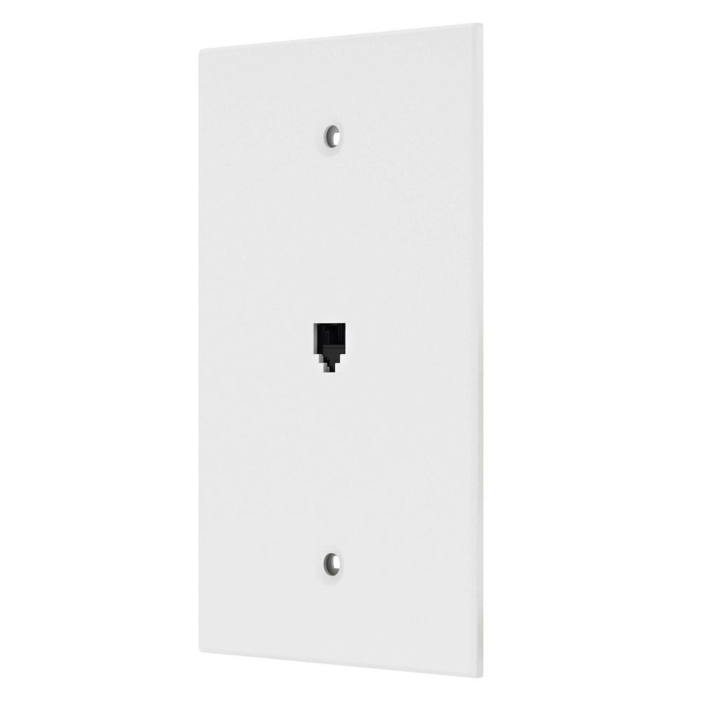 [SCHEMATICS_4ER]  Leviton White 1-Gang Phone Jack Wall Plate (1-Pack)-R72-40539-PMW - The  Home Depot | Leviton Telephone Jack Wiring Diagram |  | The Home Depot