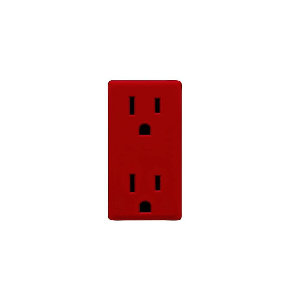 Leviton Renu Red Delicious 15-Amp Outlet Color Change Kit-DISCONTINUED
