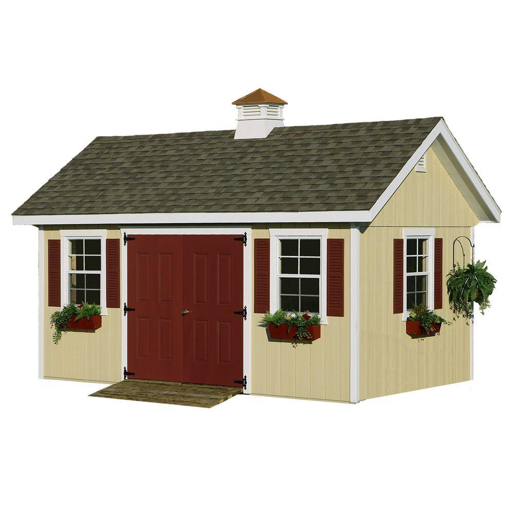 HomePlace Structures 10 ft. x 16 ft. Studio Garden Building with Floor