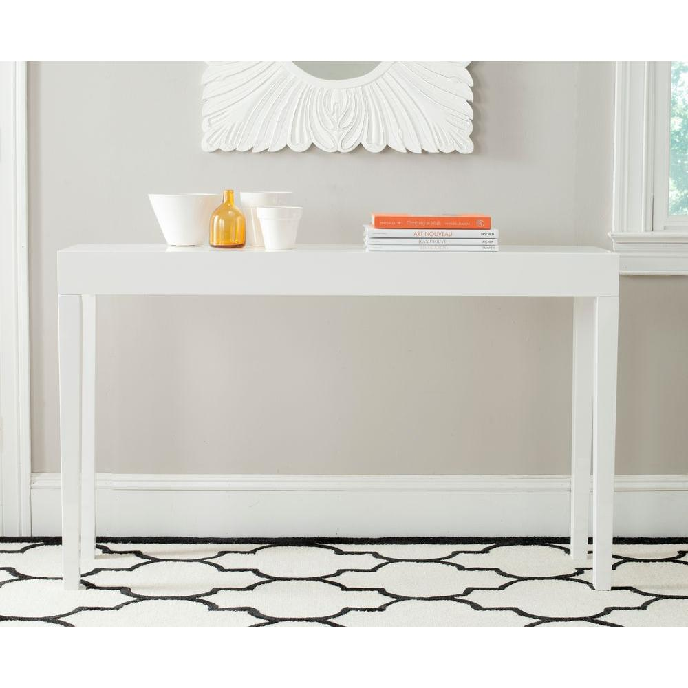 Safavieh Kayson White Console TableFOX4204A The Home Depot
