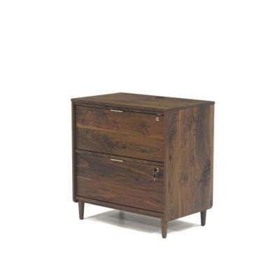 Clifford Place Grand Walnut Lateral File Cabinet with Locking Drawers