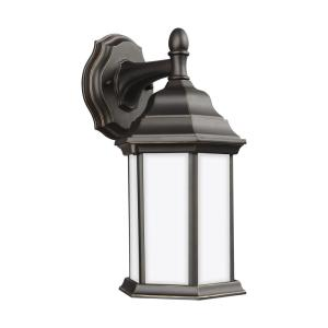 Sevier 1-Light Antique Bronze Outdoor Wall Lantern