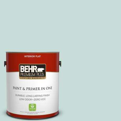 1 gal. #MQ3-20 Whipped Mint Flat Zero VOC Interior Paint and Primer in One