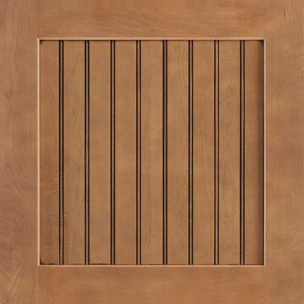 American Woodmark 14-9/16x14-1/2 in. Cabinet Door Sample in Shorebrook Maple Mocha Glaze
