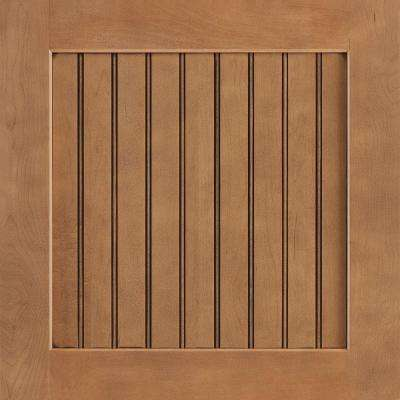 14-9/16x14-1/2 in. Cabinet Door Sample in Shorebrook Maple Mocha Glaze