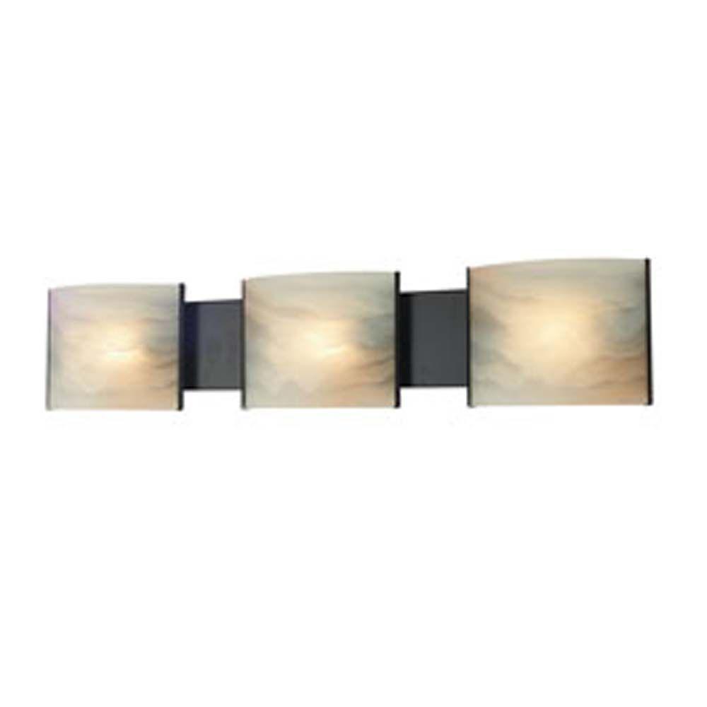 Filament Design Spectra 3 Light Oil Rubbed Bronze Bath Vanity Light