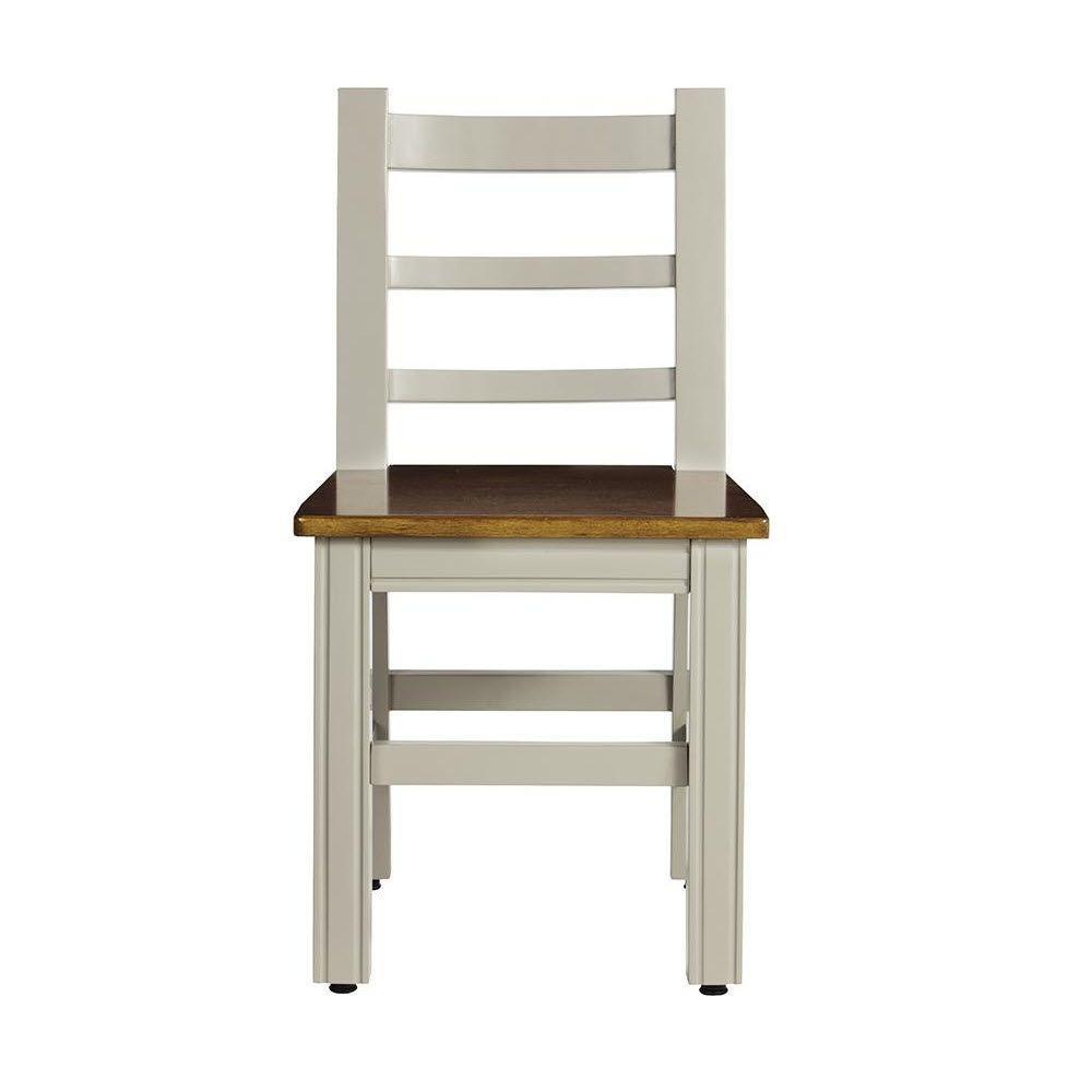 Kids Grey Wood Armless Chair